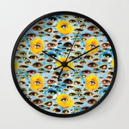 Eyes (Cue the Peaches) Wall Clock