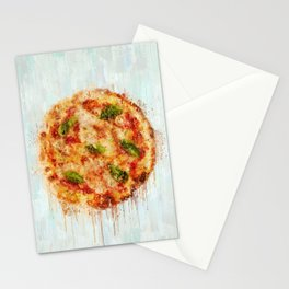 Painted Pizza Stationery Cards