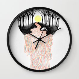 Through Darkness into the Light Wall Clock