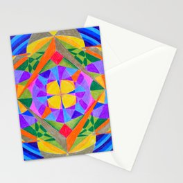 Geometric Meditation Mandala Stationery Cards