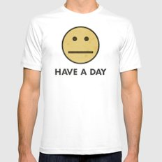 HAVE A DAY White LARGE Mens Fitted Tee