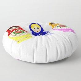 Russian matryoshka nesting dolls Floor Pillow