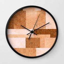 Peach Squared Wall Clock