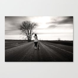 I walk the Line Canvas Print