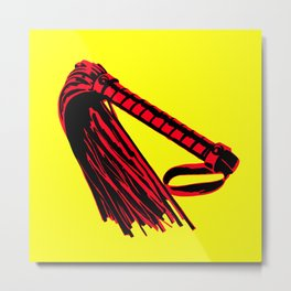 Yellow + Red: Flogger Metal Print