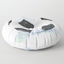 Soccer Ball Watercolor Floor Pillow