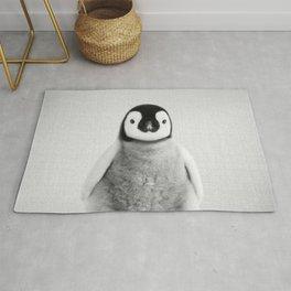 Baby Penguin - Black & White Rug