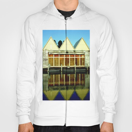 Reflections of an old boat Building! Hoody