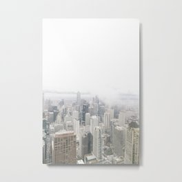 Cloudy Chicago Metal Print