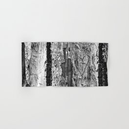 Carvings in Tree Trunk Gnarly Texture Pattern Hand & Bath Towel
