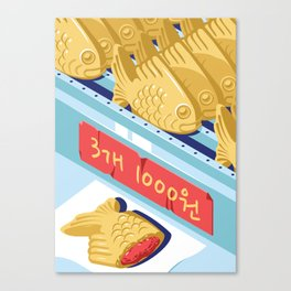A night out in Seoul - Part 9 - Bungeoppang (fish shapes pastries) Canvas Print