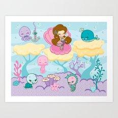 Sparkling Sea Mermaid Print Art Print