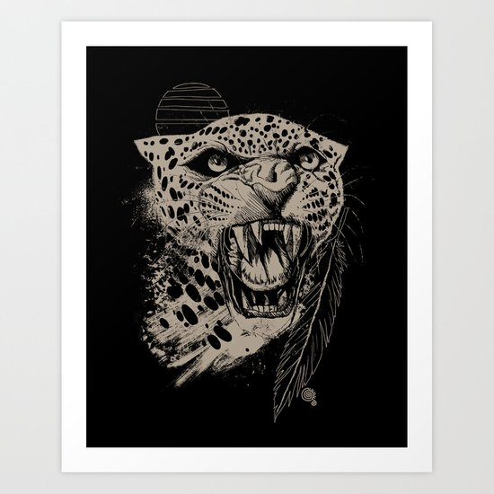 Jaguar Sun Art Print