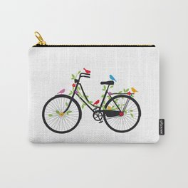 Old bicycle with birds Carry-All Pouch
