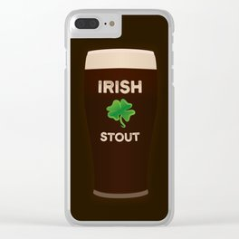 Irish Stout Clear iPhone Case