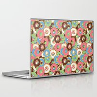 donuts Laptop & iPad Skins featuring Donuts by Beesants