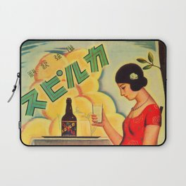 Retro Japanese Beverage Advertisement Laptop Sleeve