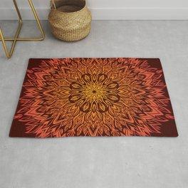 Fire Spirit Mandala Art Rug