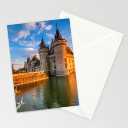 Castle Sully sur Loire at sunset, Loire valley, France Stationery Cards