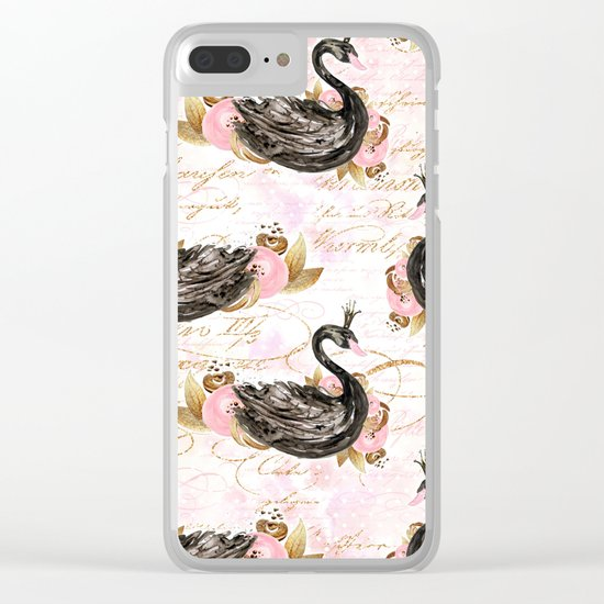 Black Swans ballerina #2 Clear iPhone Case