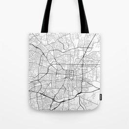 Greensboro Map, USA - Black and White Tote Bag