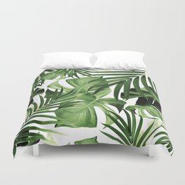 Tropical Jungle Leaves Pattern #12 #tropical #decor #art #society6 Duvet Cover