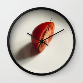 Close up of a fresh tomato Wall Clock