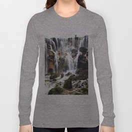 Pearl Shoal Waterwall // Jiuzhaigou Valley Long Sleeve T-shirt