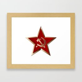 Soviet Badge Insigni Framed Art Print