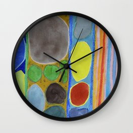 Precious Things in Colourful Stripes Wall Clock