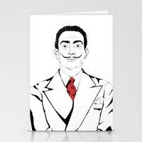 salvador dali Stationery Cards featuring Salvador Dali by ArpanDholi