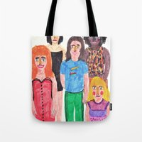 spice girls Tote Bags featuring The Spice Girls by Angela Dalinger