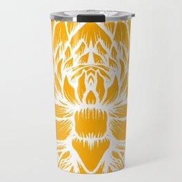 Golden Yellow Lotus Travel Mug