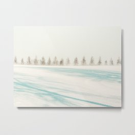 Pine Trees and Snow in Norway Metal Print