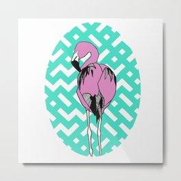 Mr Flamingo Metal Print