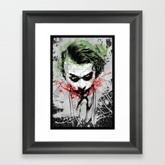 Joker - Heath Ledger Framed Art Print