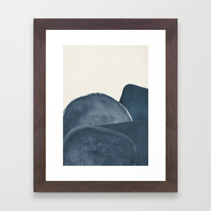 Blue Landscape Framed Art Print