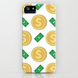Dollar pattern background iPhone Case