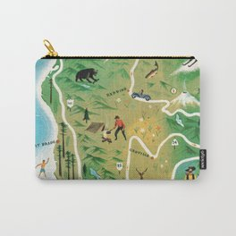 Northern California Map Vintage Handrawn illustration Carry-All Pouch