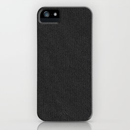 Black Cloth iPhone Case
