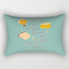I love Cheese Cheese loves Me Rectangular Pillow