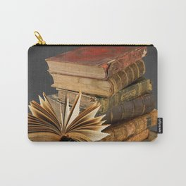 DECORATIVE  ANTIQUE LEDGERS, LIBRARY BOOKS art Carry-All Pouch