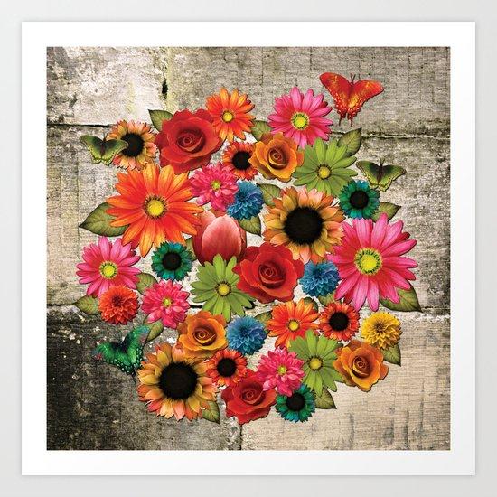 Wallflowers 2 Art Print