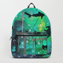 Teal hammerheads Backpack