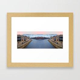 York. The River Ouse double take. Framed Art Print