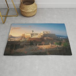 The Acropolis of Athens, Greece by Leo von Klenze Rug