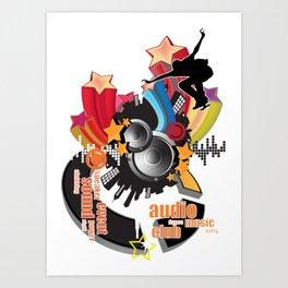 musical material Art Print