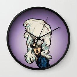 Marshmallow Hair Wall Clock