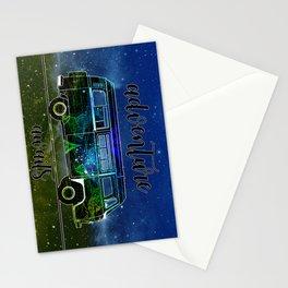 adventure awaits world map design 2 Stationery Cards