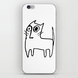 A mangy, miffed and slightly damaged cat iPhone Skin